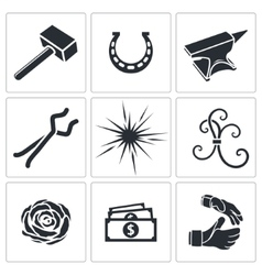 Forge icon collection vector