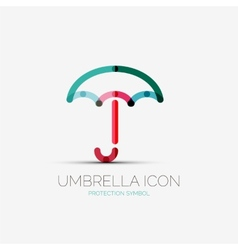 Umbrella protection company logo concept vector