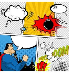 Retro comic book speech bubbles vector