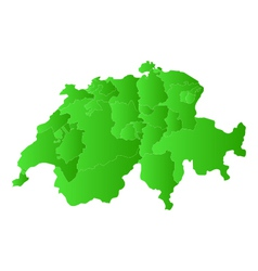 Map of switzerland vector