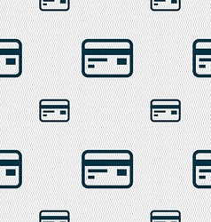 Credit debit card icon sign seamless pattern with vector
