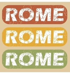 Vintage rome stamp set vector
