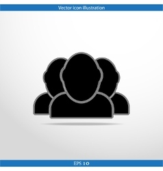 Icon of team work vector