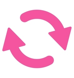 Refresh flat pink color icon vector