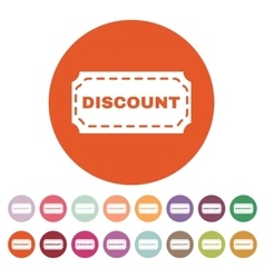 The discount icon coupon and gift offer symbol vector