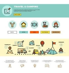 Camping traveling tourism infographic vector