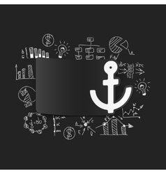 Drawing business formulas anchor vector