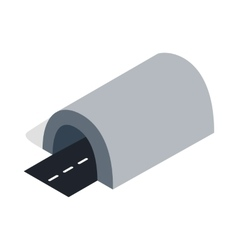 Tunnel icon isometric 3d style vector