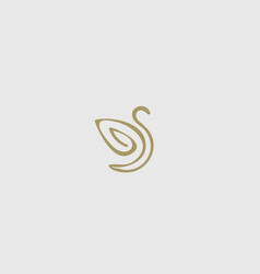 Abstract bird wing leaf logo design swan spa vector
