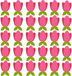 background with colored tulips vector image