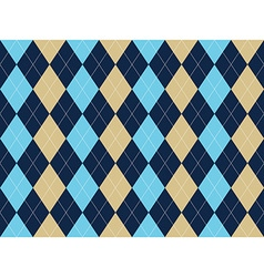 Blue beige white argyle seamless pattern vector image