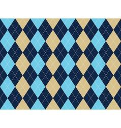 Blue beige white argyle seamless pattern vector