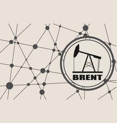 Brent crude oil presentation banner vector