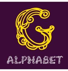 Doodle hand drawn sketch alphabet letter g vector
