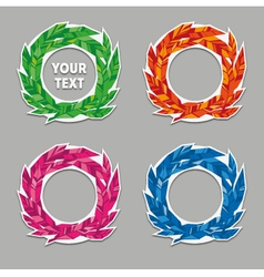 Feather Wreath Set vector image vector image