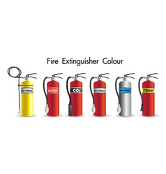 Fire extinguisher colour safety vector