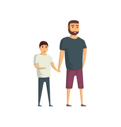 handsome young man with son icon vector image vector image