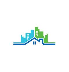 Home building cityscape logo vector