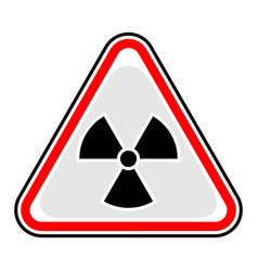 ionising radiation sign triangular sticker vector image vector image