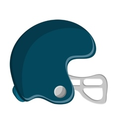 Isolated helmet of american football design vector