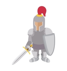 Knight cartoon character vector