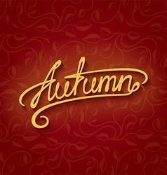 Lettering autumn vector