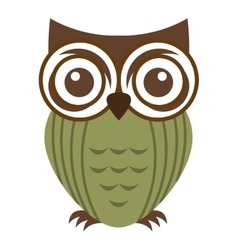 owl bird cute icon vector image vector image