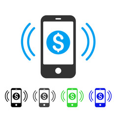 Payment phone ring flat icon vector