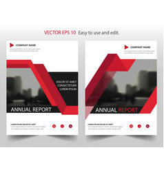 Red triangle annual report leaflet brochure flyer vector
