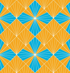 Seamless abstract fan pattern background vector image vector image