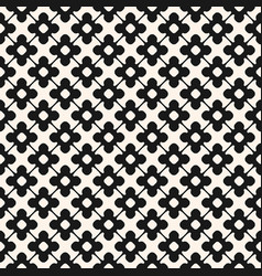 Seamless pattern monochrome floral ornamental vector