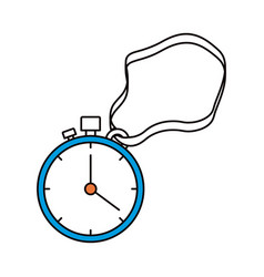 Silhouette color sections of stopwatch with timer vector