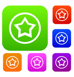 star set collection vector image
