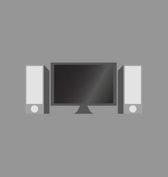 Technology gadget in flat design computer speakers vector
