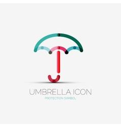Umbrella protection company logo concept vector