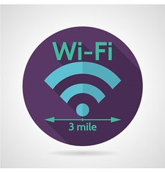 Wireless network flat icon vector image vector image