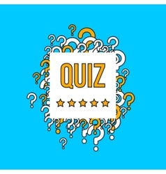 Quiz test background with question marks vector