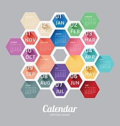2017 calendar calendar hexagon geometric vector