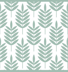 Palm blue leaves seamless pattern vector