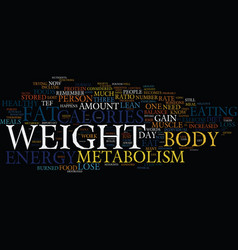 Your metabolism and fat loss text background word vector