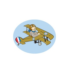 Sopwith camel scout airplane cartoon vector