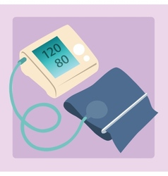 Sphygmomanometer measures blood pressure readings vector
