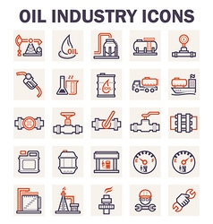 Oil refinery icon vector