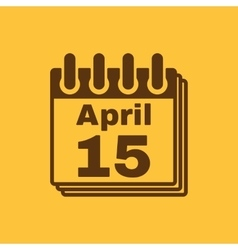 The calendar 15 april icon tax day vector