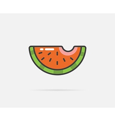 Watermelon can be used as logo or icon vector