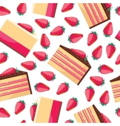 Seamless background with a pattern of delicious vector