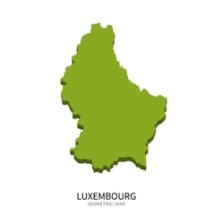 Isometric map of luxembourg detailed vector