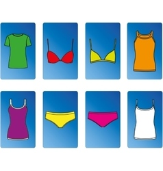 Kit of underwear and tops vector