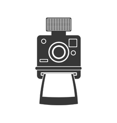 Camera icon retro technology design vector