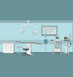 a operating room vector image